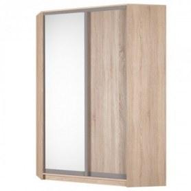Угловой шкаф-купе Аларти (YA-198х1250(602) (6) Вар. 3; двери D5+D6), с зеркалом