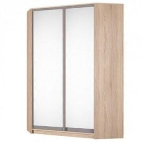 Угловой шкаф-купе Аларти (YA-198х1250(602) (6) Вар. 4; двери D5+D5), с зеркалом