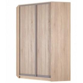 Угловой шкаф-купе Аларти (YA-230х1400(602) (10) Вар. 2; двери D6+D6), без зеркала