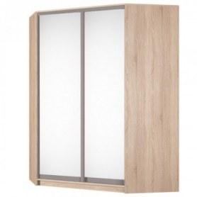 Угловой шкаф-купе Аларти (YA-198х1400(602) (8) Вар.4 ; двери D5+D5), с зеркалом