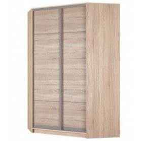 Угловой шкаф-купе Аларти (YA-230х1400(602) (10) Вар. 1; двери D4+D4), без зеркала