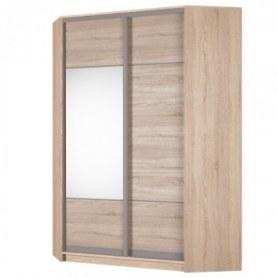 Угловой шкаф-купе Аларти (YA-198х1250 (602) (6) Вар. 3; двери D3+D4), с зеркалом