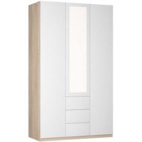 Шкаф распашной Реал (Push to open; R-230х135х60-3-PO-М), с зеркалом