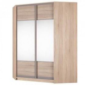 Угловой шкаф-купе Аларти (YA-198х1400 (602) (12) Вар. 2; двери D3+D3), с зеркалом