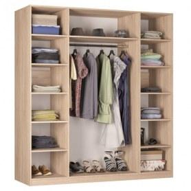 Шкаф распашной Реал (Push to open; R-198х180х60-1-PO-М), с зеркалом