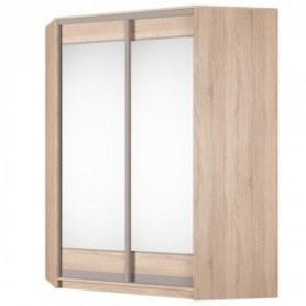 Угловой шкаф-купе Аларти (YA-198х1400 (602) (12) Вар. 2; двери D2+D2), с зеркалом