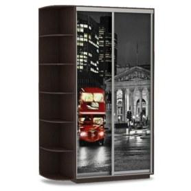 Шкаф-купе Хит, 1500x600x2200, фотопечать, со стеллажом, ночной лондон, венге