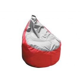 Кресло-мешок Груша-3 new, Оксфорд 240 серый/Оксфорд 240 красный