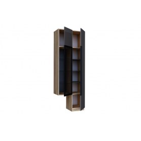 Шкаф с витриной Кельн, 674020, антроцит/дуб золотой