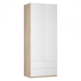 Шкаф двустворчатый Реал (Push to open; R-230х90х60-3-PO), без зеркала