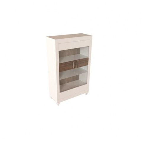 Шкаф-витрина Калле КМ-31 Вар.1, Белый/Engadina