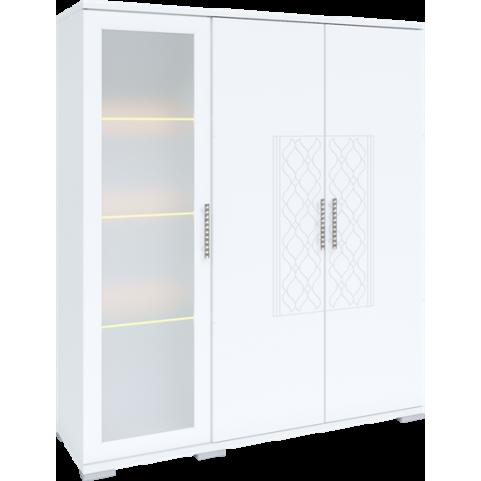 Шкаф-сервант Тиффани М02 с комплектом подсветки