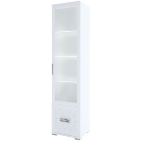 Шкаф-пенал Тиффани М07 с комплектом подсветки