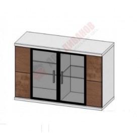 Шкаф-навесной со стеклом Корано, Бм.Кор-05, белый экспо/ольха текстурная