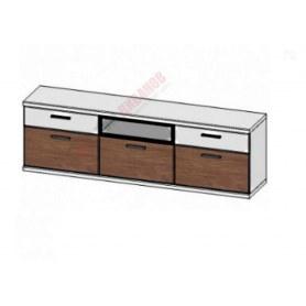 Шкаф навесной со стеклом Корано, Бм.Кор-97, белый экспо/ольха текстурная