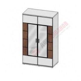 Шкаф-гардероб с зеркалом 2Д Корано, Бм.Кор-34, белый экспо/ольха текстурная