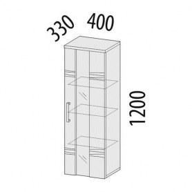 Шкаф витрина малый левый 33.04 Мокко 400х330х1200