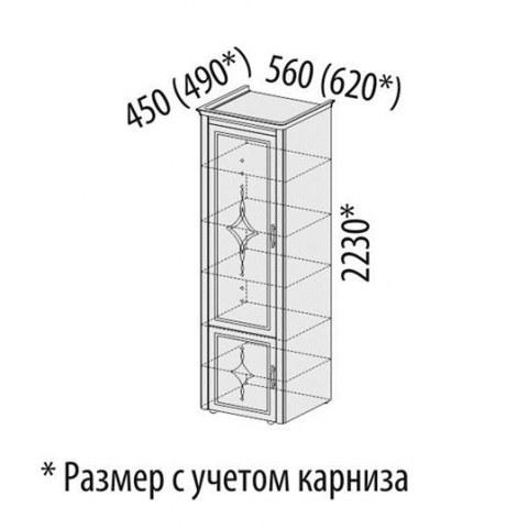 Шкаф-пенал с колоннами 32.19 Венеция лев/правый