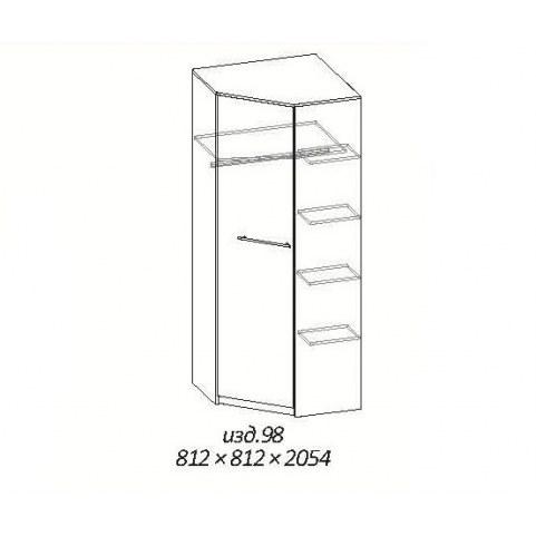 Детский угловой шкаф МК 4.11 №98