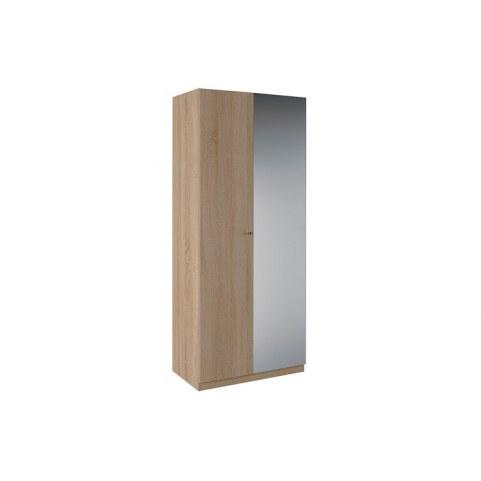 Шкаф Квадро Шкаф 2 двери с зеркалом К4.0.8 (ЛДСП, Дуб санома)