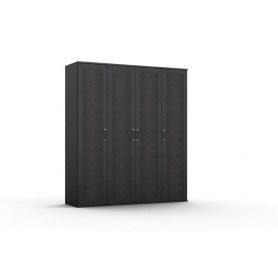 Шкаф четырехстворчатый Gloss, фасад экокожа (G-ШО-04 к, Венге)