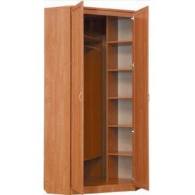 Шкаф  401 угловой со штангой, цвет Молочный дуб