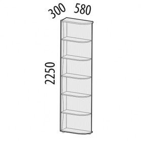 Розали 96.24 Стеллаж угловой левый 300х580х2250