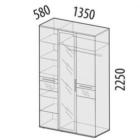 Розали 96.12 Шкаф трехдверный с зеркалом 1350х580х2250