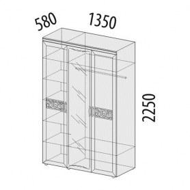 Шкаф трехдверный с зеркалом Тиффани 93.12