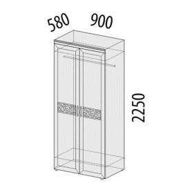 Шкаф двухдверный Тиффани 93.11