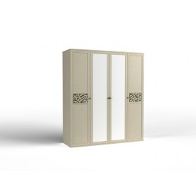 Шкаф четырехдверный Twist, 2 зеркала, (Tw-ШО-04 2г/2зр)