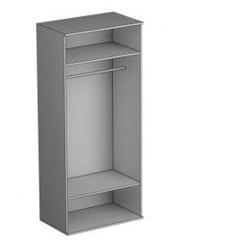 Шкаф двухстворчатый Gloss, (G-ШО-02 к, Дуб Шамони)