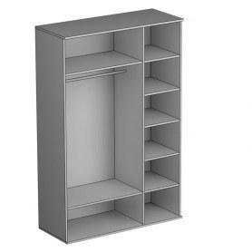 Шкаф трехстворчатый Gloss, 3 зеркала, (G-ШО-03 зр, Выбеленный дуб)
