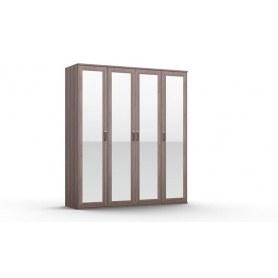 Шкаф четырехстворчатый Gloss, 4 зеркала, (G-ШО-04 зр, Дуб Шамони)