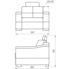 Кресло КИТ-14, без короба, с мягкими подлокотниками