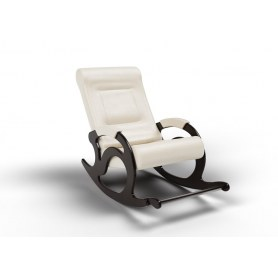 Кресло-качалка Тироль, экокожа крем