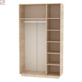 Шкаф Аврора (H21) 2322х1351х540 Белый/ДСС
