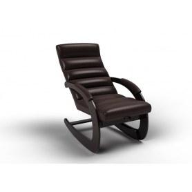 Кресло-качалка Ното, экокожа венге