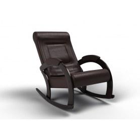 Кресло-качалка Венето, экокожа венге