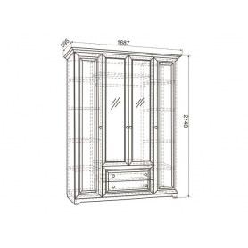 Шкаф 4-створчатый Белла (1687х595х2148)