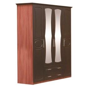 Шкаф четырехстворчатый Мадонна, цвет итальянский орех