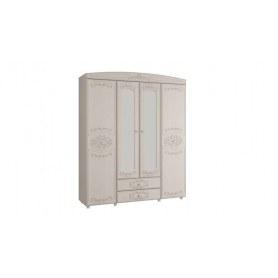 Шкаф Каролина 4-х дверный с зеркалом