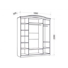Шкаф четырехдверный Гертруда, М1, белая лиственница
