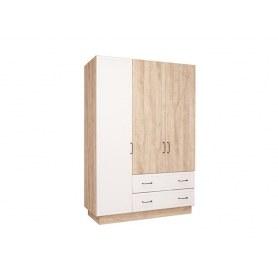 Шкаф трехдверный Ханна, М4, дуб баррик/белый/ясень дальневосточный