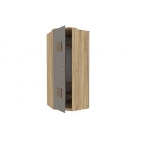 Шкаф угловой 45 с декоративной накладкой Фиджи, 659.245, антроцит