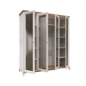 Шкаф четырехстворчатый Вилладжио, ЛД 680.100.000.011, 4 зеркала
