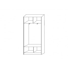 Шкаф-купе 2-х дверный 2200х1200х420 с одним зеркалом ХИТ 22-4-12/2-15 Венге Аруба