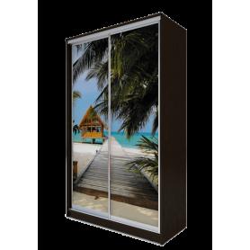 Шкаф-купе 2-х дверный 2400х1365х620 фотопечать, рисунок