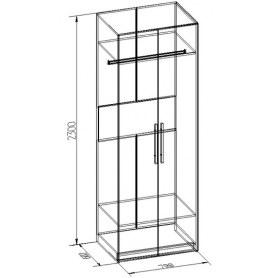 Шкаф Bauhaus 8+ Фасад стандарт, Бодега Светлый