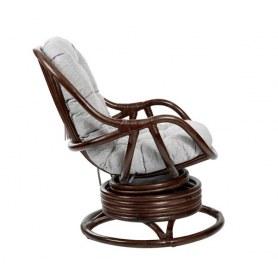 Кресло-качалка Kara c подушкой, Орех